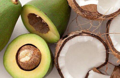 Avocado en kokos