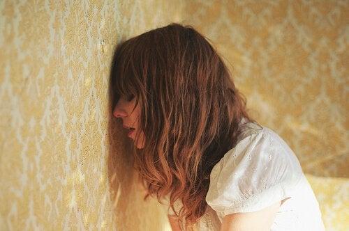 Vrouw met een depressie door stress