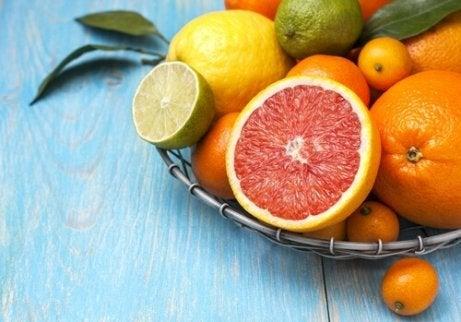 Schaal met citrusfruit