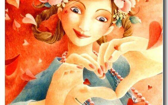 positiviteit vrouw maakt hart