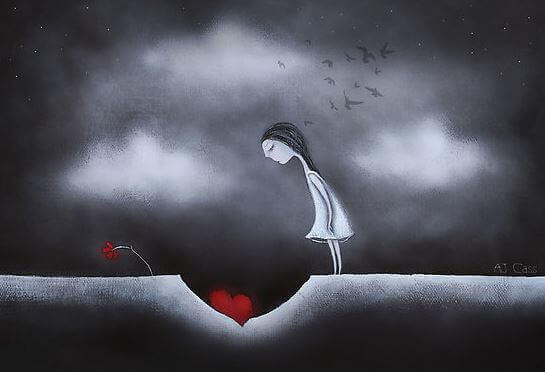 positiviteit hart begraven