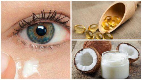 Je oogcontouren verjongen met natuurlijke crème van kokosolie