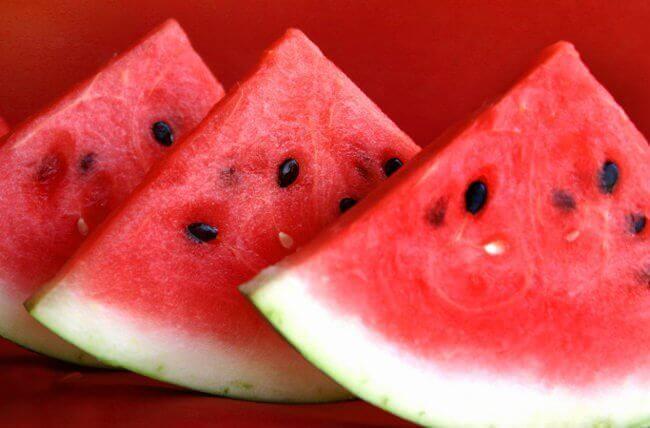 Vochtretentie behandelen met watermeloen