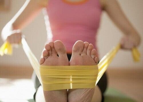 Voeten stretchen voor sterkere voeten