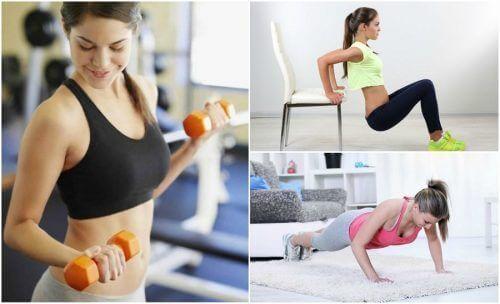 Slappe armen verstevigen met zes eenvoudige oefeningen