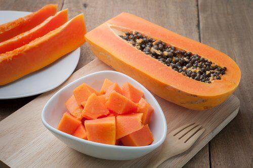 Heerlijke papaja voor de spijsvertering