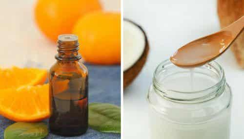 Kokos-citrusolie voor een gevoede en heldere huid