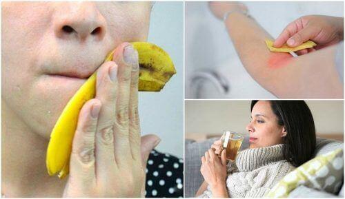 Interessante manieren om bananenschillen te gebruiken