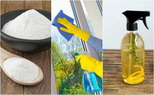 Milieuvriendelijke glasreinigers: vijf huisrecepten