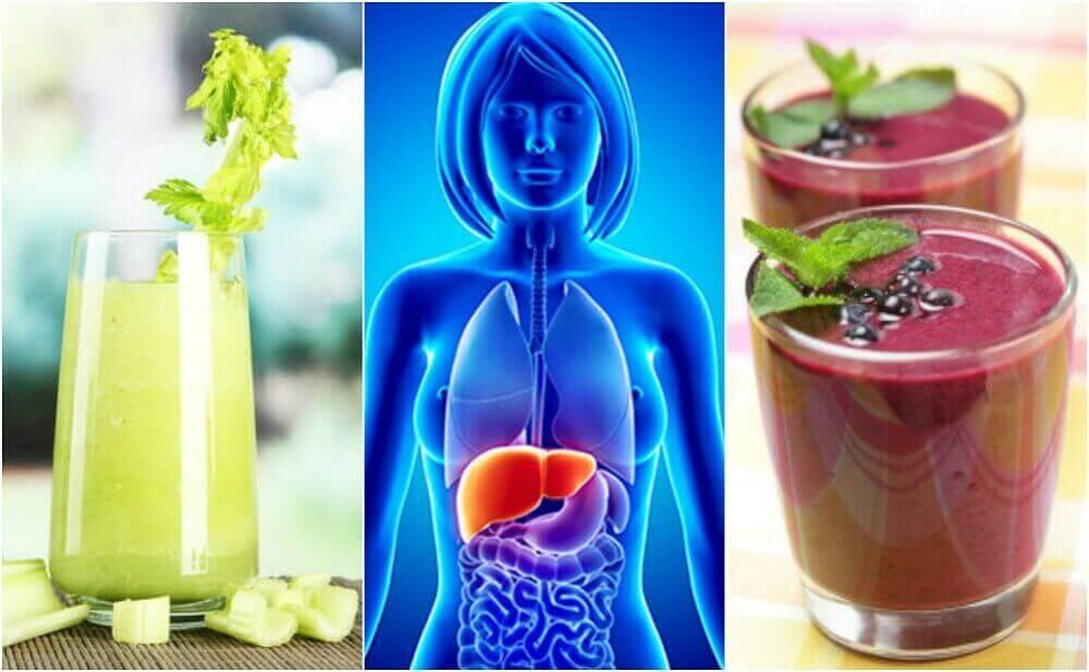 Reinig je lever met vier smoothies van fruit en groenten