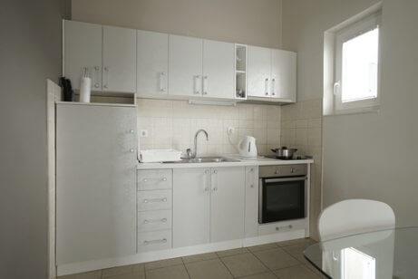 Kleine keuken in een L-vorm