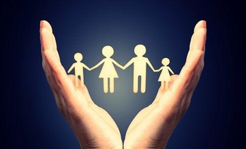 Familie van papier