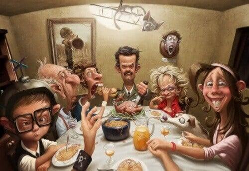 Ongelukkige familie