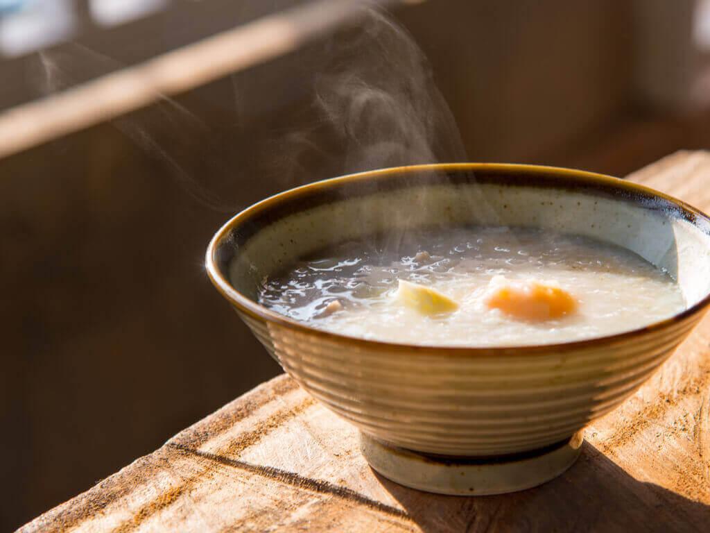 Bouillon met rijst erin