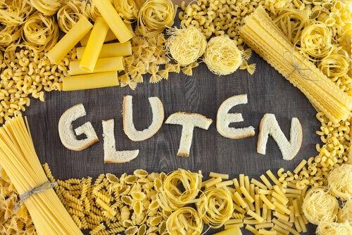 Pastasoorten bevatten gluten