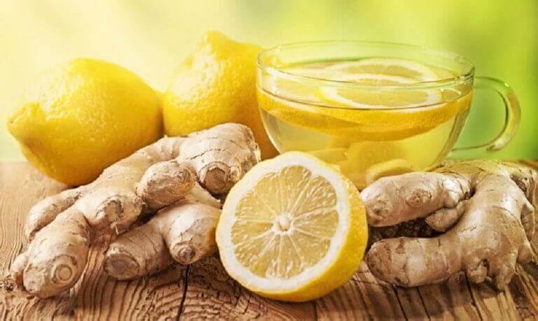 Je lever reinigen door gember en citroenthee
