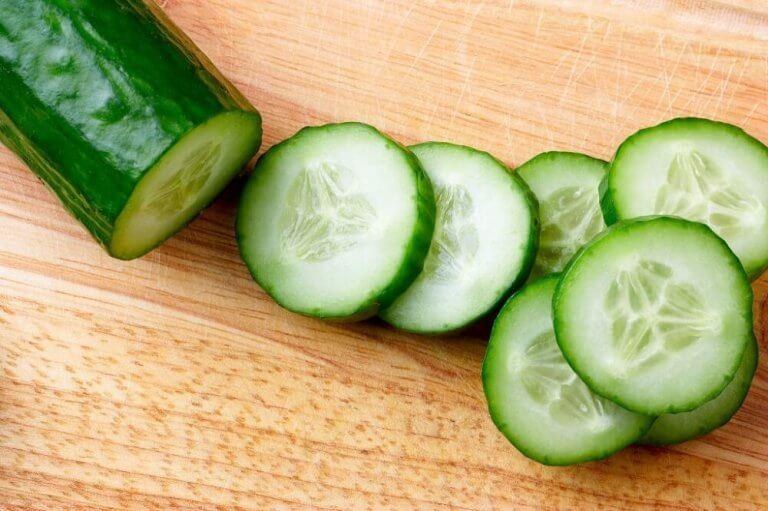 Komkommersap schijfjes komkommer