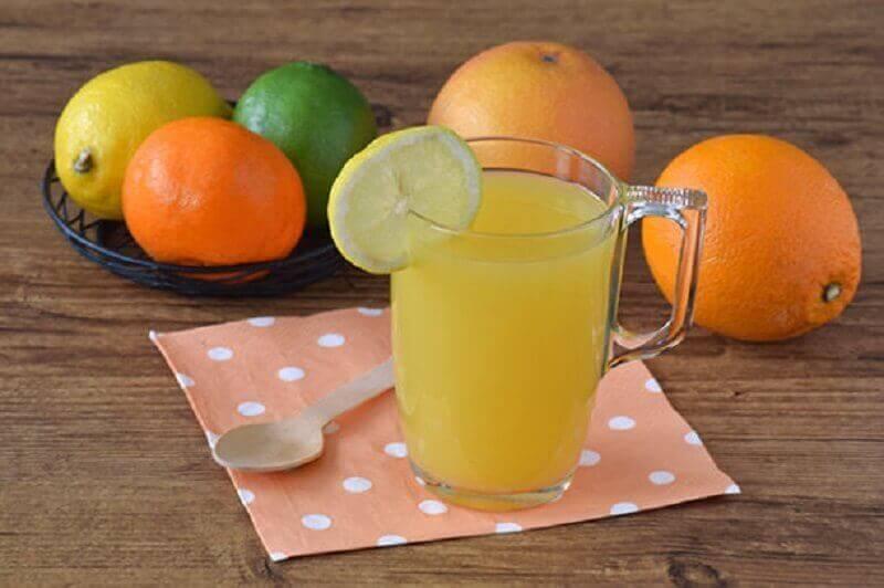 Een plattere buik door citrussap te drinken