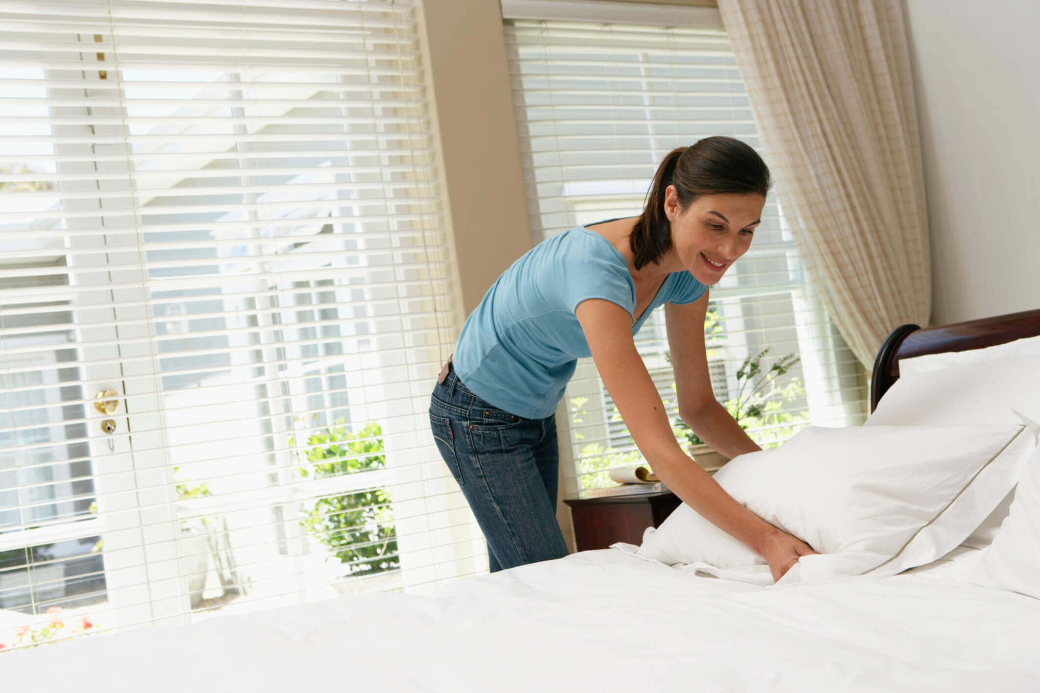 Maak je bed op voordat je het huis verlaat