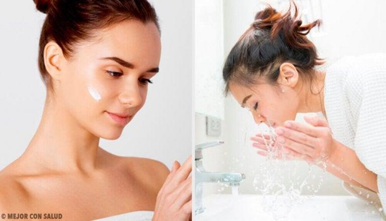 Vijf fouten die je maakt bij het wassen van je gezicht