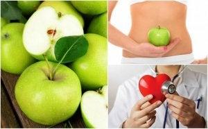 Groene appel op een lege maag