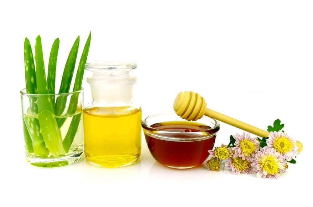 Make-upreiniger met aloë, honing en olijfolie