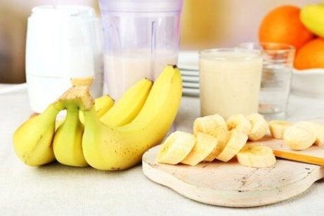 Elke dag twee bananen die rijp zijn