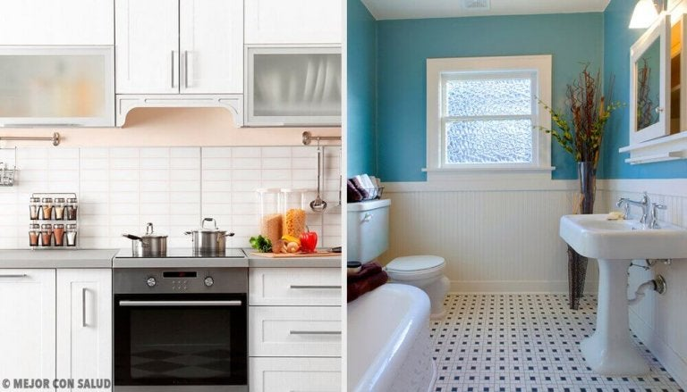 Huismiddeltjes voor een badkamer en een keuken zonder vieze geurtjes
