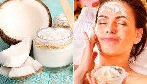 Een van de schoonheidsvoordelen van kokosolie is dat je het kunt gebruiken als gezichtsmasker