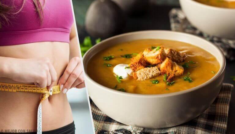 Ontdek een dieet met een vetverbrandende soep