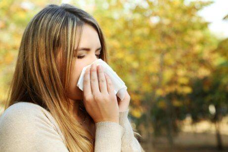 Seizoensgebonden allergieën zoals een loopneus