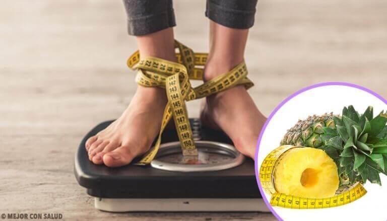 Verlies iedere dag gewicht met ananasschil