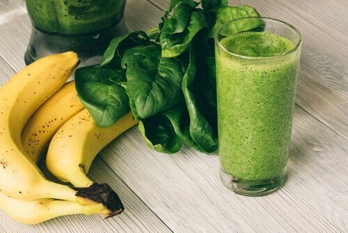 Spinazie banaan smoothie