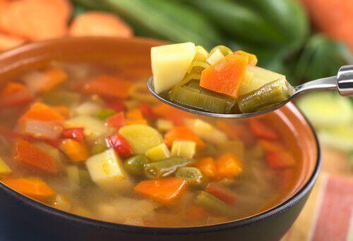 Heerlijke gerechten zoals groentesoep