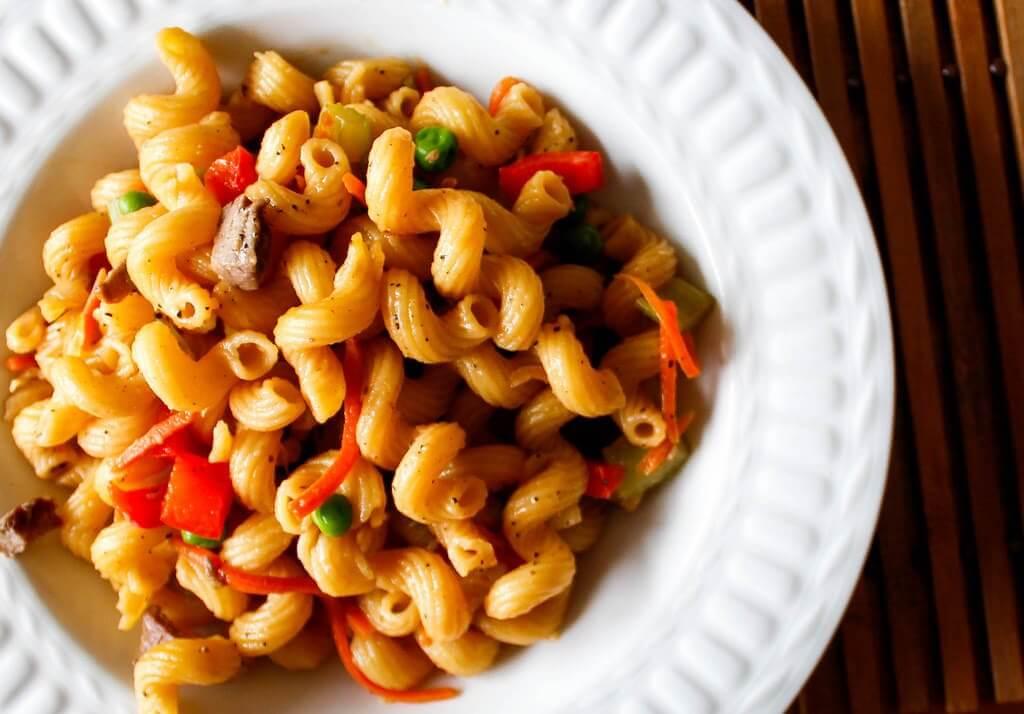 grote hoeveelheid pasta koken