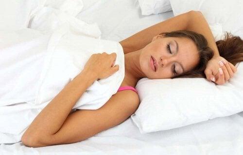 Slechte houding tijdens het slapen