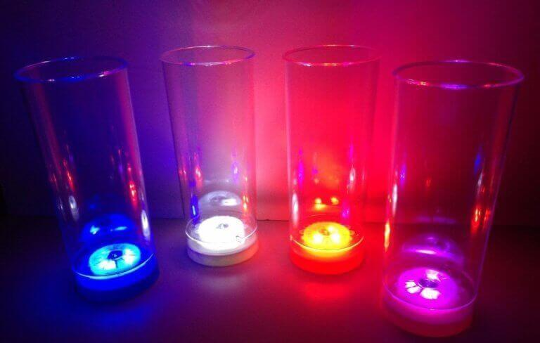 Verlichte glazen