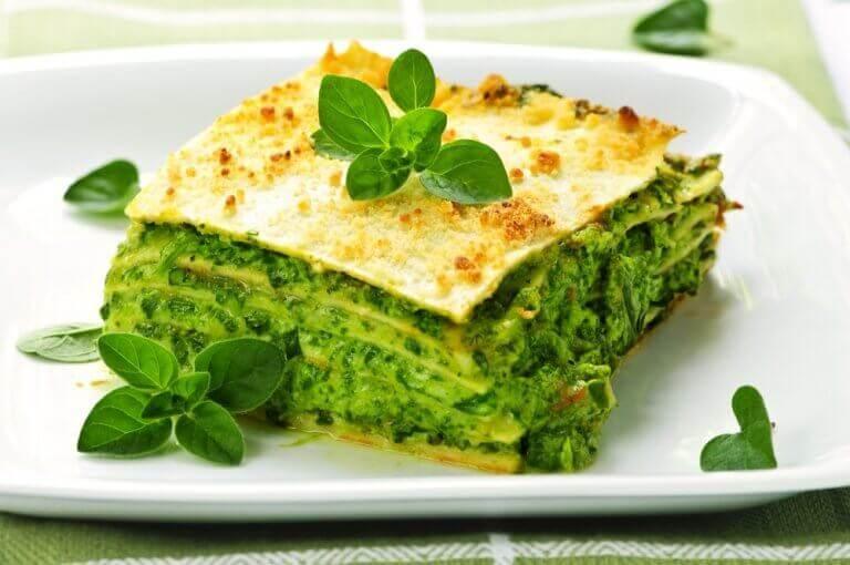 Wraps met spinazie die rijk zijn aan eiwitten