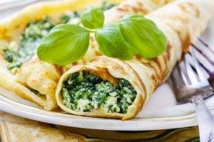 Wraps met spinazie