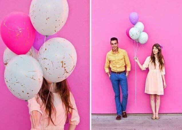 Versieren met ballonnen: verfspatten