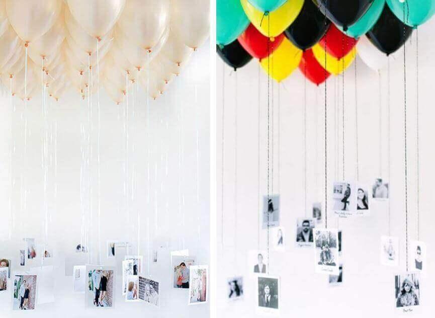Versieren met ballonnen: ballonnen met foto's