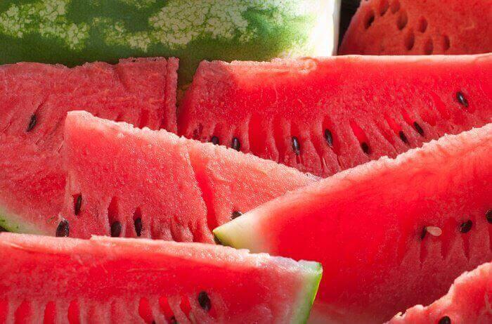 Indrukwekkende fruitsmoothies met watermeloen