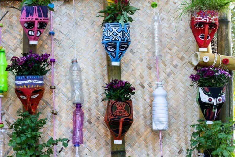 Maak deze prachtige plantenpotten met gerecyclede materialen