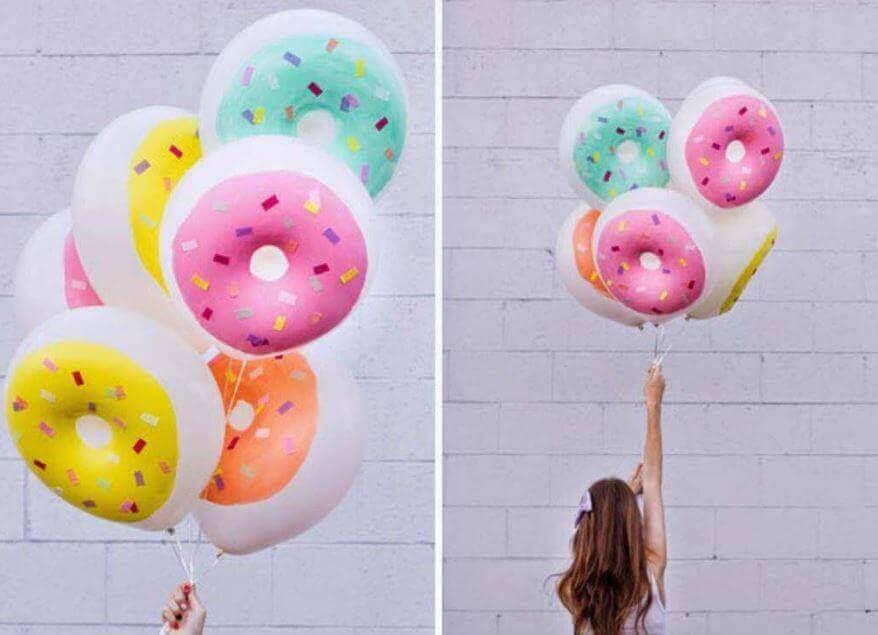 Versieren met ballonnen: donuts