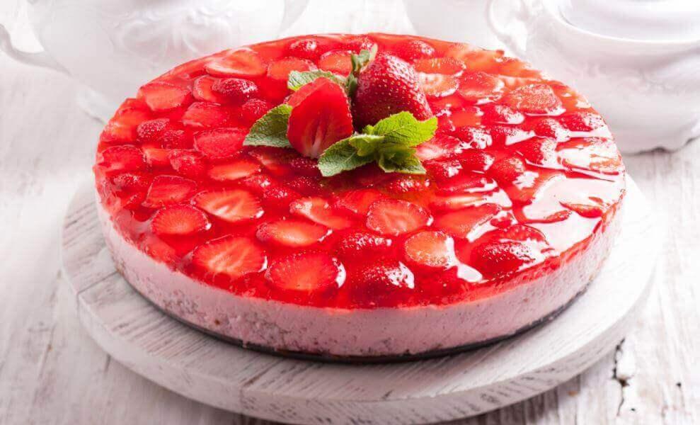 Recepten met gelatine en aardbei