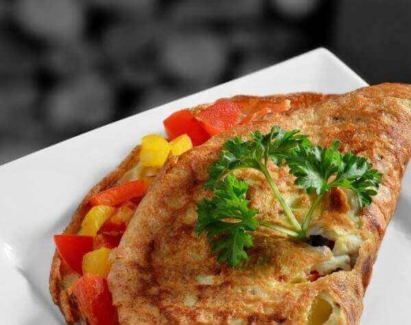 Recept voor een omelet met groenten