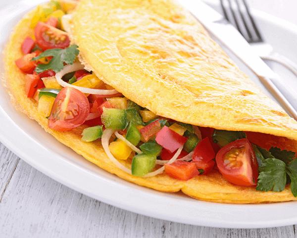 Maak met dit recept een heerlijke omelet met groenten