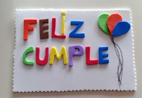 Verjaardagskaarten gemaakt met foam papier