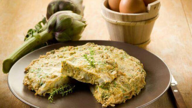 Recepten met artisjokken: Spaanse omelet