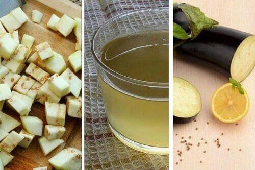 Gewichtsverlies bevorderen met auberginewater